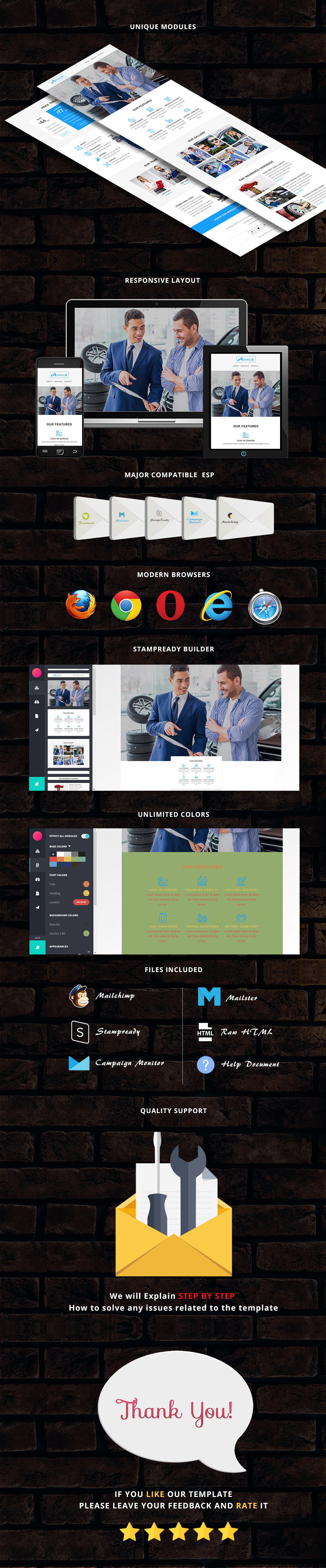 advisor - Responsive Email Template + Stampready Builder