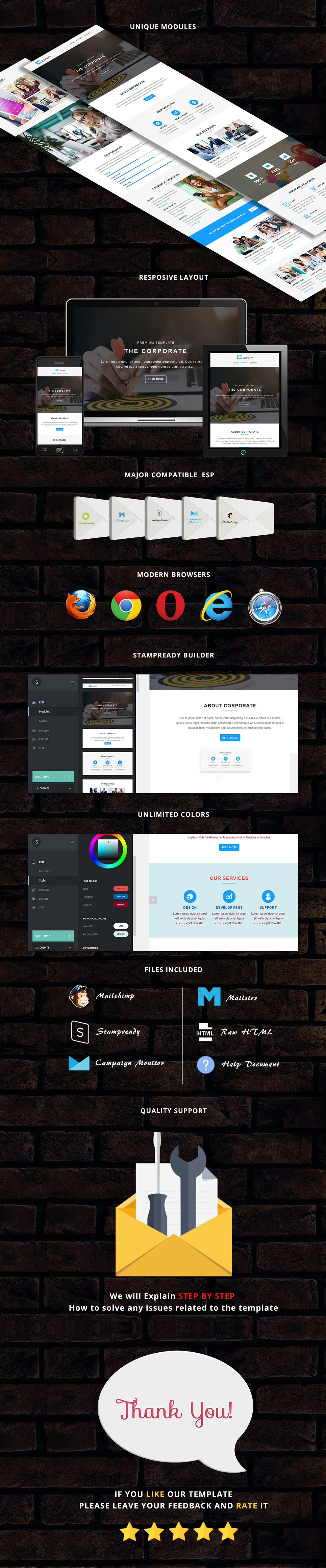 Corp - Responsive Email Template + Stampready Builder corp - responsive email template (newsletters) Corp – Responsive Email Template (Newsletters) corp presentation
