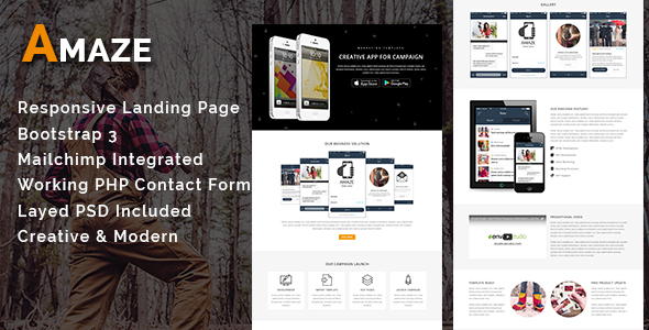 AMAZE - Multipurpose Responsive Email Template With Stamp Ready Builder Access - 1