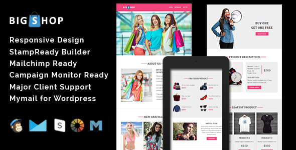 MICRO - Multipurpose Responsive Email Template With Stamp Ready Builder Access - 4