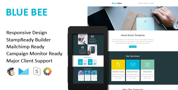 MICRO - Multipurpose Responsive Email Template With Stamp Ready Builder Access - 3