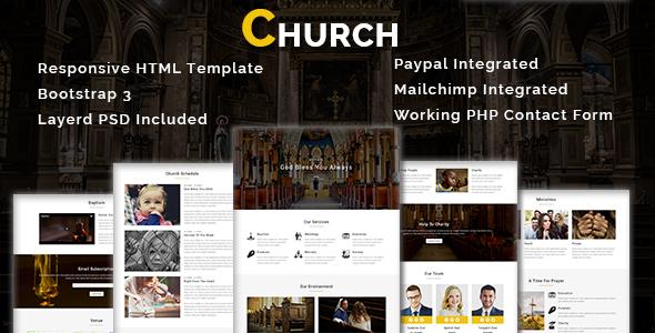 charity - multipurpose responsive html landing page (nonprofit) Charity – Multipurpose Responsive HTML Landing Page (Nonprofit) church st