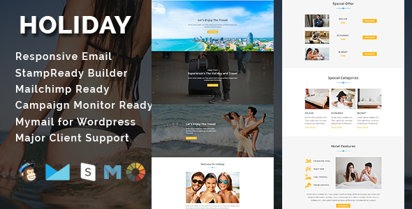 corp - responsive email template (newsletters) Corp – Responsive Email Template (Newsletters) holiday