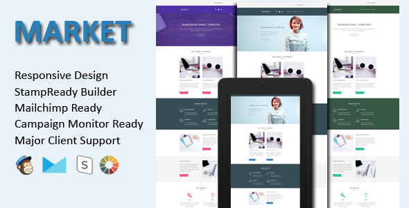 MASTER - Responsive Email Template With Stamp Ready Builder Access - 3