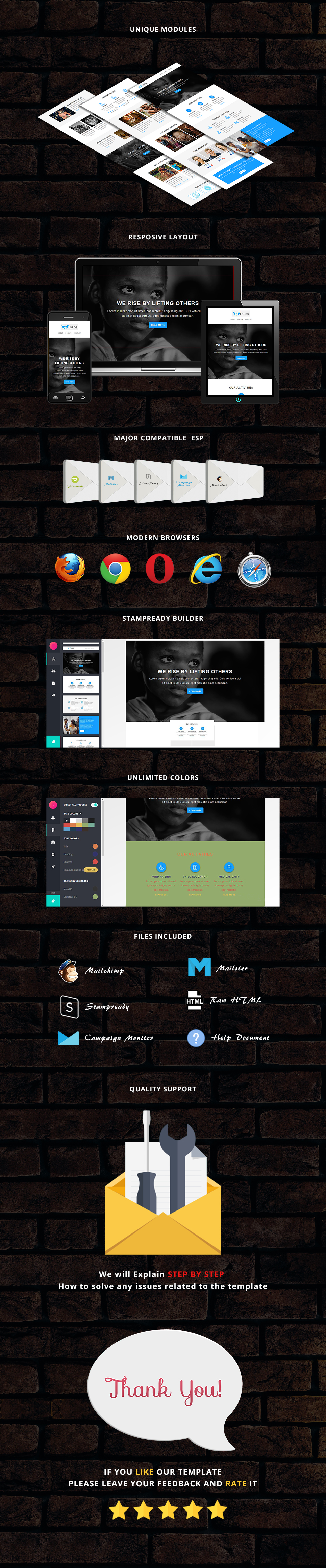 Lords - Responsive Email Template + Stampready Builder