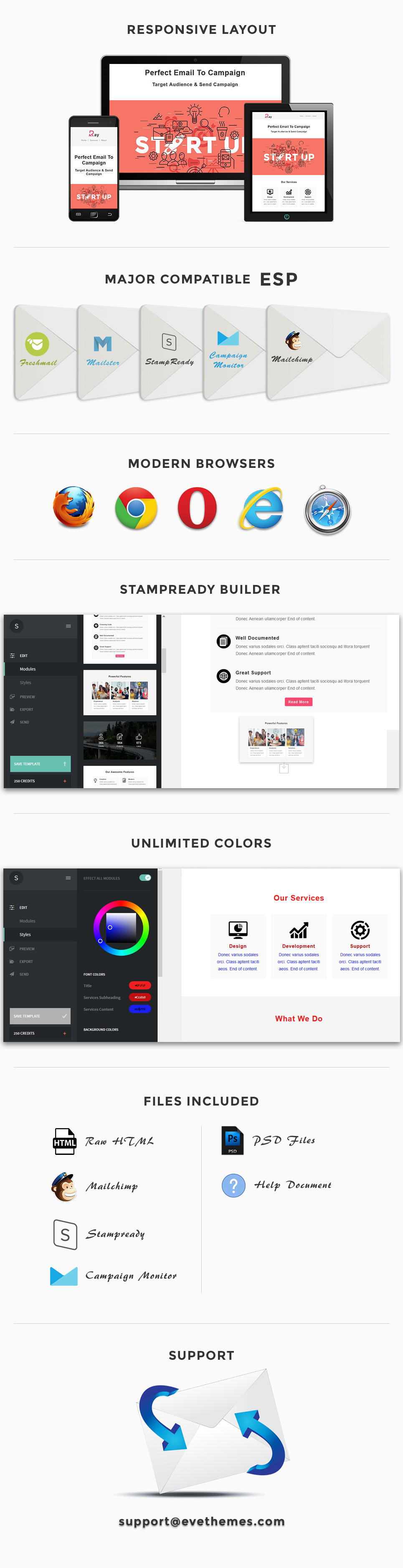 Ray - Responsive Email Template + Stampready Builder