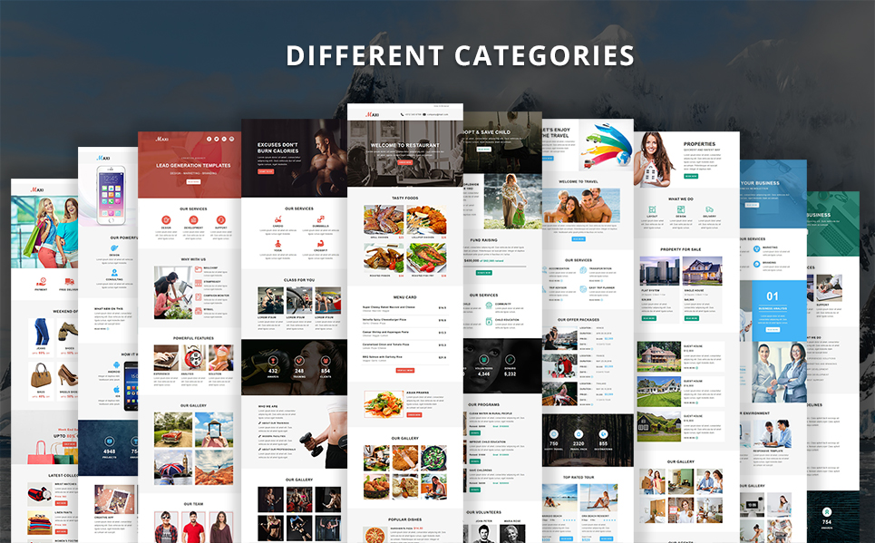 maxi-presentation-4 Maxi - Multipurpose Responsive Email Templates theme WordPress