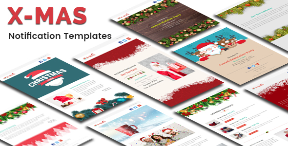 Christmas - 10 Responsive Newsletter and Notification Templates - 2